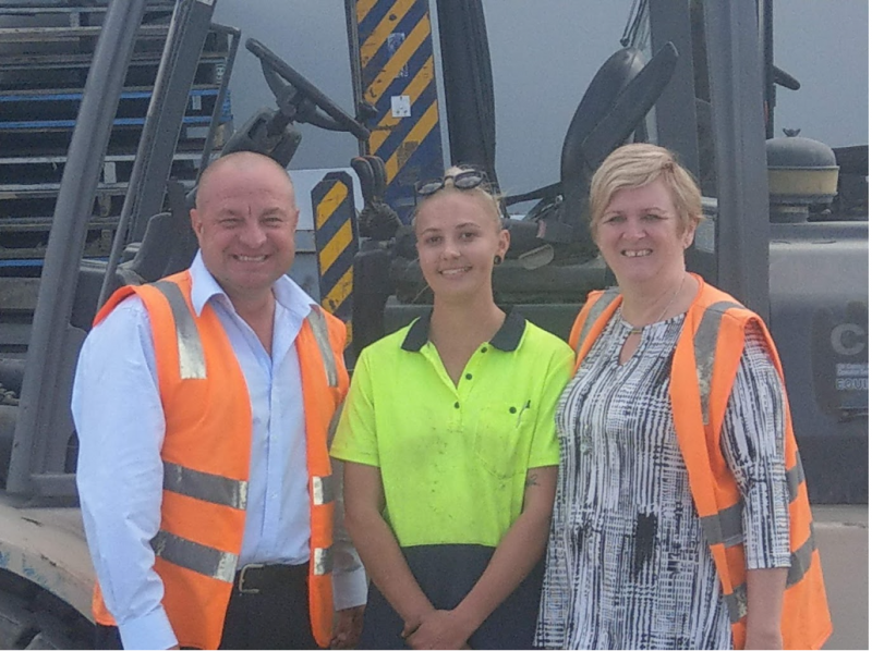 Pictured above: Justin Fleming (TruckSafe General Manager), Alex Coleman (Daryl Dickenson Transport, and Tracie Dickenson (Director - Daryl Dickenson Transport).